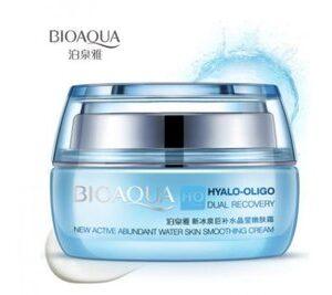 Крем для лица с олигомером гиалуроновой кислоты. BioAqua Hyalo-Oligo Dual Recovery Smoothing Cream